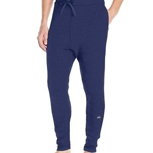 $98 Mens Alo Yoga Relaxed Sweatpant in Navy Blue